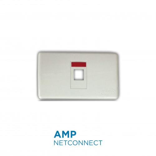 1-272378-1FacePlate Decorator Kit, 1 port, w/Icon & Label, White