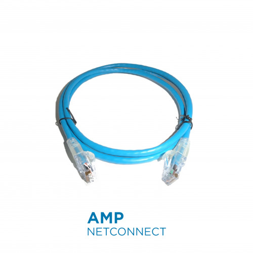 1859247-4	UTP Patch Cable Cat.6, Transparent SL Boot, BLUE 4Ft.