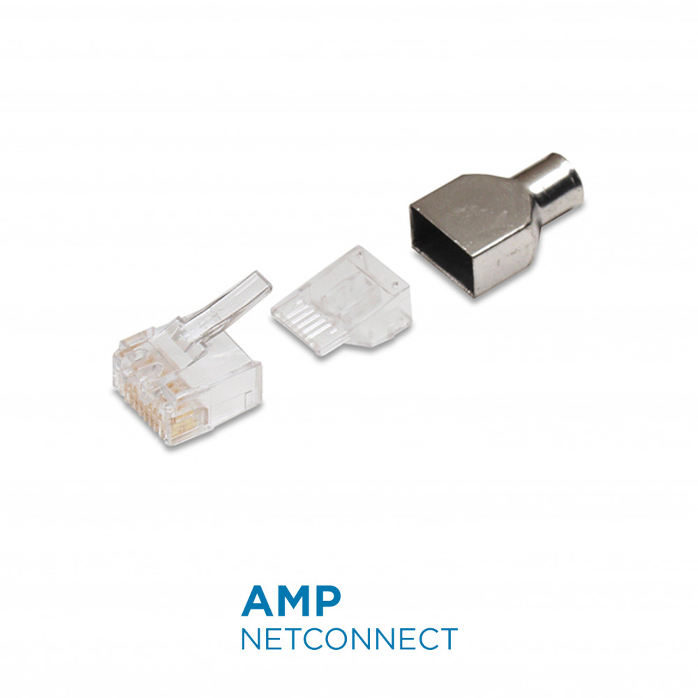 6 2111989 3 Rj45 Modular Plug Cat6 8 Position Unshield Connector Cat