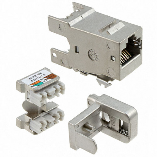 2153449-4 FTP Cat.6 XG shielded rear entry jacks, without dust cover for PatchPanel