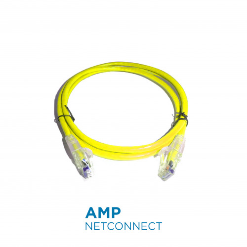 NPC06UVDB-YL010F	UTP Patch Cable Cat.6, Transparent SL Boot, Yellow 10Ft.