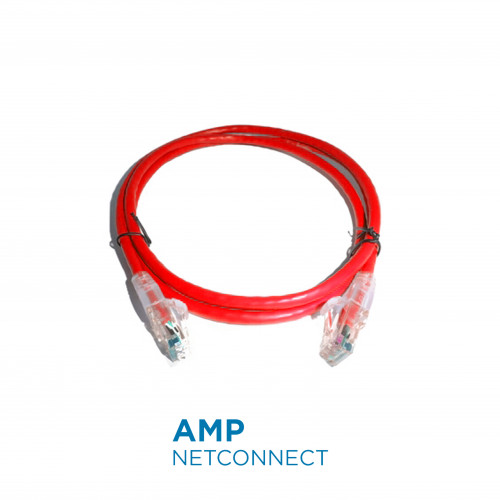 NPC06UVDB-RD004F	UTP Patch Cable Cat.6, Transparent SL Boot,Red 4Ft.