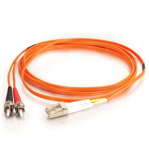 1-2105034-0 LC-ST 50/125 OM2 Fiber Patch Cable, Duplex, LSZH&OFNR, 10MR