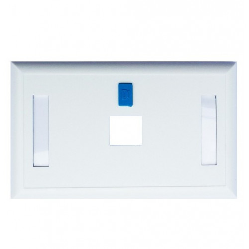 Faceplate US Style, 1 Port w/Icon & label, White